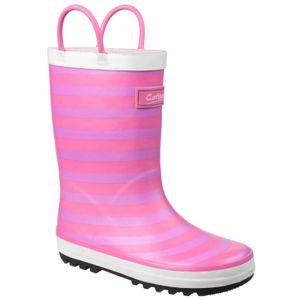 Cotswold Kinder Captain Streifen Gummistiefel FS4392 (30 EU) (Pink)