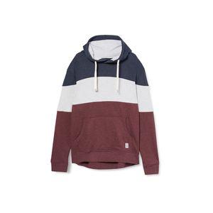TOM TAILOR Herren Kapuzenpullover Hoodie Hoody cutline hoodie with colorblock Dusty Wildberry Red XL