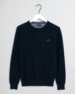 GANT Herren Pique Sweater, Farbe:blau, Größe:3XL