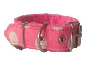 Handarbeit Luxus Hundehalsband Gelb S/Breite 2cm Halsumfang 28-35cm