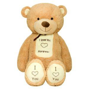 TEDBI Teddybär Groß BIG XXL Riesen Kuscheltier Stofftier Plüschtier bär Geschenk C01, Farbe:Hellbraun, Größe:XXXL - 200cm