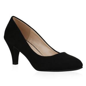 Mytrendshoe Damen Klassische Pumps Stiletto Klassische Party Schuhe 834842, Farbe: Schwarz, Größe: 39