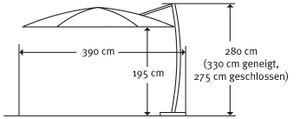 Schneider Sonnenschirm RHODOS rondo 350/8 bordeaux 792-08