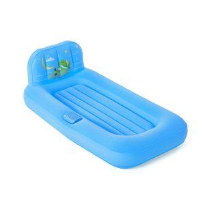 Bestway® Fisher Price® Luftbett für Kinder , Traumlicht, 132 x 76 x 46 cm, mit LED- Projektor, blau