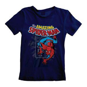 Marvel Kinder T-Shirt Amazing Spider-Man HE435 (104) (Marineblau)