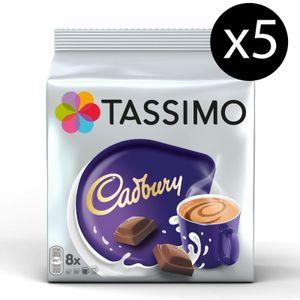 TASSIMO Kapseln Cadbury Hot Chocolate T-Discs 5 x 8 Getränke Kakaokapseln