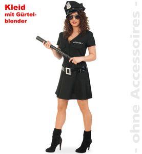 Polizistin Polizist Polizei schwarz Karneval Fasching Kostüm 36