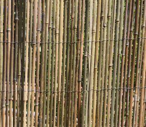 BAMBUSMATTE 2m x 1,5m BAMBUS-Sichtschutzmatte Zaun Sichtschutz Matte geschnitten