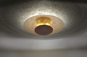 Paul Neuhaus LED Deckenleuchte Nevis aus Eisen in Rostfarben 450 mm