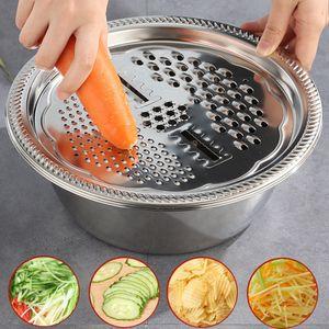 2 Stück / Set Multifunktionales Edelstahlbecken Küche Rasierabläufe Becken Tragbares Werkzeug 26cm