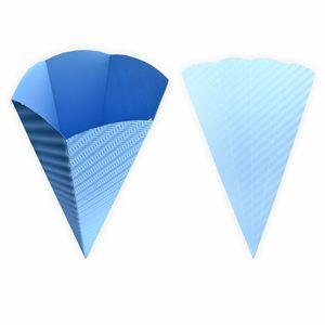 Creleo - Schultüte hellblau aus 3D Wellpappe 68cm 1 Stück - Zuckertüte als Rohling zum basteln, bemalen und bekleben
