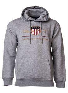 Gant Herren Shield Hoodie, Farbe:Grau, Größe:XL