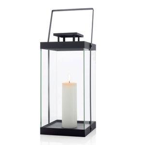 BLOMUS Edelstahl Laterne FINCA groß 46 cm Kerzenhalter Leuchter 63688