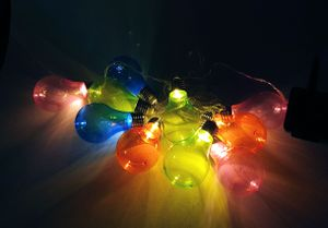 SOLAR LED Party Lighting - 10 bunte LED Glühbirnen - 2,7m