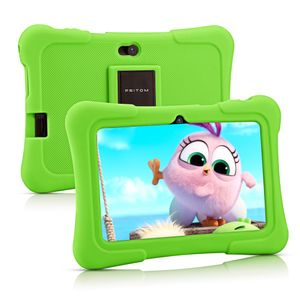 PRITOM K7 7 Zoll Kinder Tablet Android 10 Tablet PC 16 GB ROM Quad Core Tablets WiFi Tablet für Kinder,Grün