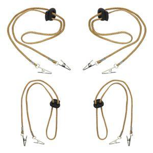 4 Stück Verstellbare Serviettenkette Serviettenkettchen Serviettenhalter mit Clip für den Hals