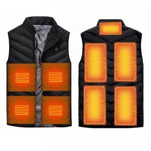 Beheizte Weste für Herren Damen, beheizbare Weste Elektrische Beheizte Jacke Heizweste USB Wärmeweste mit 3 einstellbar Temperatur, Polyester beheizbare Jacke Winterweste für Outdoor XXXXL
