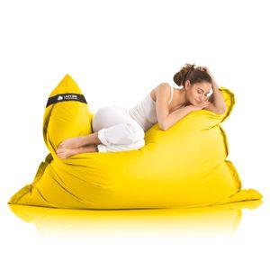 Original LAZY BAG Indoor & Outdoor Sitzsack XXL 400L Riesensitzsack Sitzkissen Sessel für Kinder & Erwachsene 180x140cm - Gelb