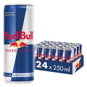 [6,00 € Pfand im Preis enthalten] Red Bull Energy Drink 24 x 250 ml Dosen Getränke, 24er Palette