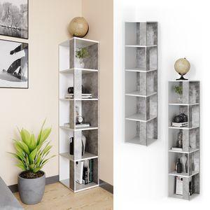 Vicco Eckregal Lio beton-weiß Standregal Bücherregal Wandregal Raumteiler 5 Ebenen