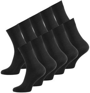 Baumwolle Prime® Baumwoll Socken 10 Paar Schwarz 43-46