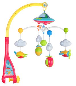 Baby Mobile Flugzeuge mit Fernbedienung Licht Musik Projektor Spieluhr Karussell  4478