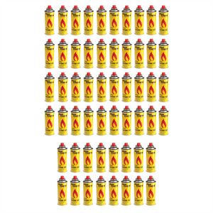 56 Kartuschen Butan Gas Kartusche Gaskartuschen Bunsenbrenner butangas Campingkocher Gaskocher 227g Gelb