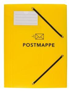 Kunststoff Postmappe / aus PP / DIN A4 / mit 3 Klappen und Gummizug