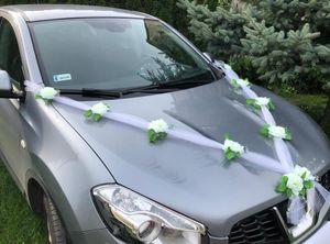 Autoschmuck zum Hochzeit  Girlande weiß 1,7m mit Saugnäpfe