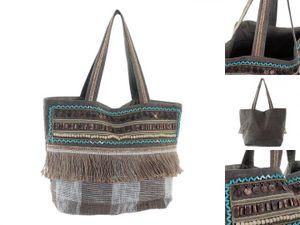 Handtasche Dekodonia Braun Mit Fransen