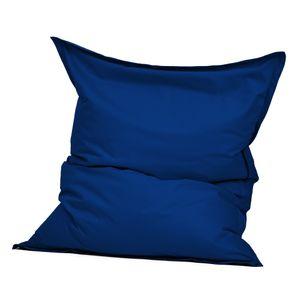 Green Bean © SQUARE XXL Indoor Riesensitzsack 140x180 cm aus Baumwolle - 380L EPS Füllung - Blau
