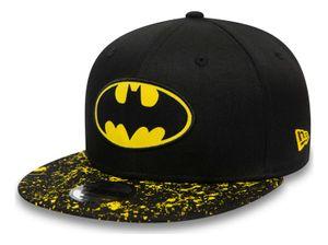 New Era - DC Comics Batman Paint Splat Visor 9Fifty Kids Snapback Cap - Schwarz : Schwarz Youth (8-14 Jahre) Farbe: Schwarz Größe: Youth (8-14 Jahre)