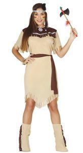 Fiestas Guirca indisches Kleid Damen braun Polyester Größe L