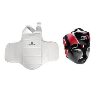 Boxing  Brust  Und Kopfschutz Set Kickboxen Sparring Protection