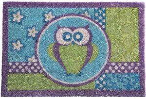 Kare Kokos Fußmatte Owl