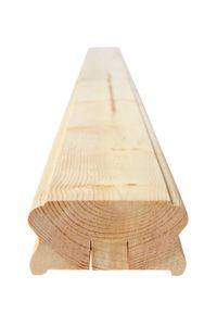 Handlauf aus Holz - 85mm - für Treppe + Balkon - nordische Fichte - (137)