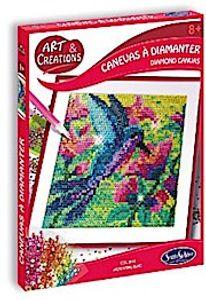 Sentosphere 02029 Bastelset Strassstein-Bild, Motiv Kolibri, Kreativ-Set, DIY für Kinder und Erwachsene, Mehrfarbig