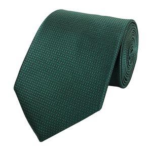 Schlips Krawatte Krawatten Binder  8cm Grün Waffel-Optik Fabio Farini