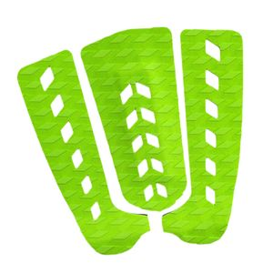 3 Stücke Surfbrett Schwanz Pad Deck Grip Mat Shortboard Skimboard Kiteboard Grün wie beschrieben