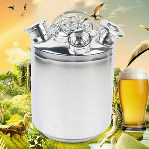 Reinigungsbehälter 10L Edelstahl Reinigungsfass mit Deckel Zapfanlage Bierkoffer Bierzapfanlage Bierfass 3-Kopf Bierreinigungsfass