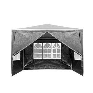 3x3m Pavillons Festzelt Partyzelte Wasserdicht Gartenpavillon für Garten Terrasse Party (Grau)