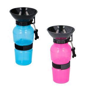 Hundetrinkflasche 500ml Reisetrinkflasche Wasserflasche Wasserspender Hund Katze, Farbe:pink