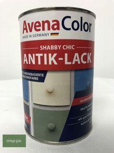 Avena Shabby Chic Antik Lack 1 Liter vintagegrün Vintage Farbe grün