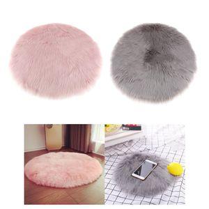 weiche Schaffell flauschige Haut Kunstpelz gefälschte Teppich Matte kleine Teppiche hellrosa+Weiche Schaffell Flauschige Haut Kunstpelz Gefälschte Teppich Matte Kleine Teppiche Grau
