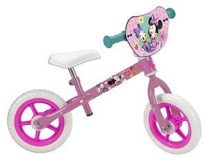 Kinder Mädchen Laufrad Disney Minnie Mouse 10 Zoll - Lernlaufrad für Kinder