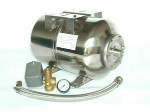 CHM GmbH® Druckkessel 24 L Edelstahl Membrankessel mit Druckschalterset 5 teilig