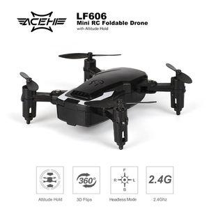 LF606 Mini Drone Quadcopter Faltbarer Hoehenhalt mit Headless Mode RTF