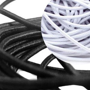 Gummiband Elastisch 2,5mm Rundgummi Kordel schwarz zum Nähen von Masken Gummikordel Gummilitze Hutgummi Ohren 5m