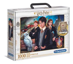 Clementoni 61882 Harry Potter Brief Case 1000 Teile Puzzle im Koffer