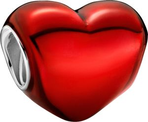 Pandora Colours Charm 799291C02 Metallic Red Heart Red Enamel Sterling Silber 925